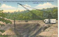 Electric Power Shovel Steam Shovel, Coal Mine Mining PA Pennsylvania Postcard