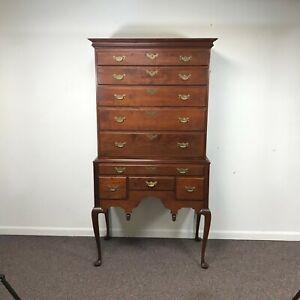 Eldred Wheeler Queen Anne 2 Part Cherry Highboy Dresser