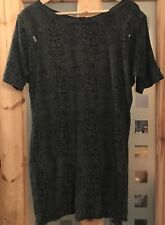 Ladies Size 8 Black Snake Print Tunic From Limited Collection Marks & Spencer