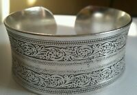 Beautiful!Tibetan Tibet Silver Totem Bangle Cuff Bracelet