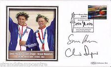 2004 Athens Olympics - Benham GB Medal Winners Silk - Signed HISCOCKS & DRAPER