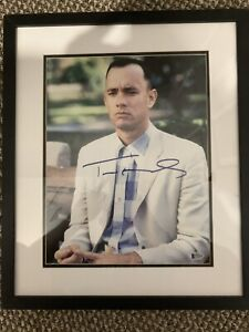 "TOM HANKS Signed Autographed ""FORREST GUMP"" 11x14 Photo Beckett BAS Framed Wood"
