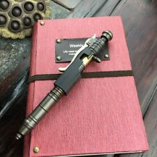 Handmade Brass Ballpoint Pen Black Wooden Creative Retro Bolt Type Tactical Pen