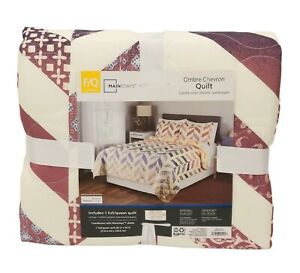 Mainstays Full/Queen size Ombre Chevron Quilt