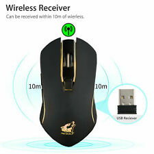 Wireless Adjustable DPI Rechargeable Silent Optical Mouse Mice & USB Receiver