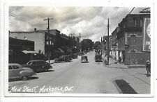 Grey County MARKDALE ONTARIO Main Street Black and White Real Photo PC Autos