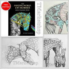 Coloring Books Adults Beautiful World Of Horses Artist Pages Paint Relax Stress