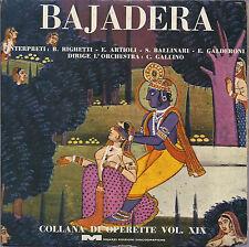 BAJADERA - Collana di Operette Vol. XIX # E. Kalmann - MEAZZI ED. DISCOGRAFICHE