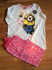 Girls Minion long sleeved  pyjamas from primark size 11-12years new