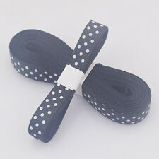 "5yds 3/8""(10MM) Black Christmas Ribbon Printed lovely dots Grosgrain Ribbon!"