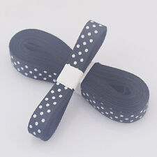 "5yds 3/8""(10MM) Black Christmas Ribbon Printed lovely dots Grosgrain Ribbon"