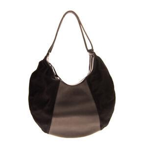 RRP €1145 YOHJI YAMAMOTO Wool Hobo Bag Large Contrast Leather Made in Japan