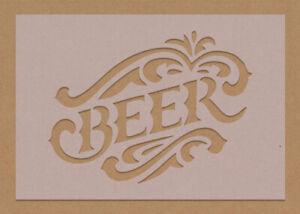 Beer Stencil Bar Sign Garden Man Cave A5 A4 A3