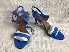 Aquazzura Firenze Colette 75 Suede Mondrian Blue Pumps Size 9 39-40 NIB $375