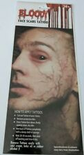 Halloween Bloody Blood Face Scars Tattoos Assorted Designs Face Make Up Kit