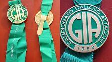 COCCARDA PREMIO G.I.A. CAMPIONATO ITALIANO ATTACCHI 1980 IPPICA - CARROZZA