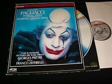 "PAGLIACI °DOMINGO AND STRATAS °<>12"" Laserdisc<> PHILIPS 070 204-1 (REMASTERED)"