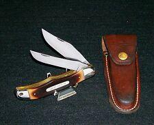 "Schrade 25OT Folding Knife W/Sheath 1970's Display Model 5-1/4"" Closed No Box"