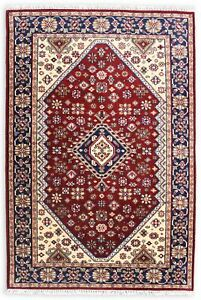 5x8 Hand Knotted Area Rug All Wool Indian Handmade Traditional Soft Pile Catpet