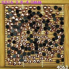 2000pcs SS16 DMC Quality Hotfix Crystal Glass rhinestones Loose Beads Flatback