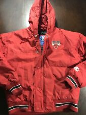 90s Starter Chicago Bulls Red Back Patch Sz XL Youth Jacket