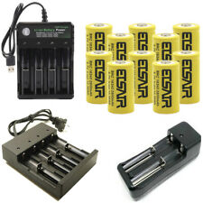 2800mAh Rechargeable 16340 Battery CR123A 3.7V Li-ion Batteries + Smart Charger