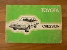 TOYOTA CRESSIDA AUTO HANDLEIDING 1983 CAR INSTRUCTION BOOK OWNERS MANUAL