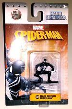 JADA Nano Metalfigs BLACK COSTUME SPIDERMAN MV2 Marvel Action Figure Metal NEW