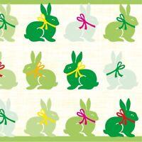 12 Serviette Ruby in Grün aus Linclass® Airlaid 40 x 40 cm - Osterfest Hasen