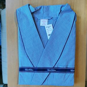 Brooks Brothers Men's All Cotton Traditional Fit Summer Dressing Gown / Robe XL