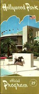 1959 DEFUNCT  Horse Racing Program Hollywood Park HOF SILVER SPOON IN The Cinema