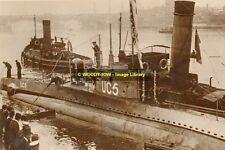 rp12195 - German Navy Submarine - UC5 - photo 6x4
