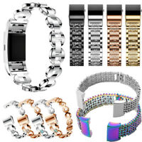 Zinc Alloy Metal Replacement Watch Band Bracelet Wrist Strap for Fitbit Charge 2
