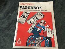 Arcade Game, Arcade Logic, Atari Games Paperboy Operations Manual