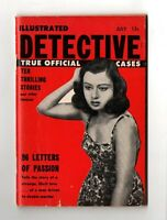 Vintage pocket magazine ILLUSTRATED DETECTIVE #1 July 1955 true crime police VG+