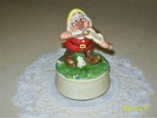 "Schmid ""Doc"" Music Box - Vintage 1987 Walt Disney Snow White & The 7 Dwarfs"