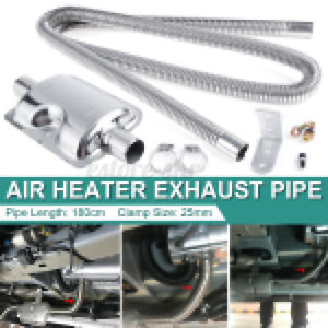 Car Parking Diesel Air Heater 180cm Exhaust Pipe + 24mm Silencer Muffler Set