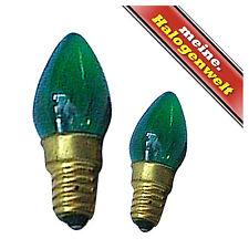 1x Kerzen-Lampe E14 10W 230V Glühlampe Deko-Lampe Kerze Leuchtmittel grün