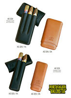 "PORTASIGARI CIGAR CASE FB IN PELLE ""VACCHETTA"" PER 2/3 TORPEDO  AS323 AS324"