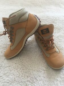 TIMBERLAND 49390 Tan Nubuck Waterproof D Ring Laced Women's Boots  9.5M