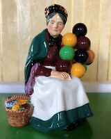 ROYAL DOULTON LADY  THE OLD BALLOON SELLER No. HN 1315 EARLY MODEL PERFECT