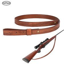 Correa de disparo cabestrillo rifle ajustable Tourbon vintage de cuero curtido vegetal