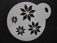 Laser cut small nordic snowflake pattern design,cookie & face painting stencil