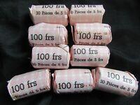 A Saisir : Rouleau de 20 X 5 Francs Semeuse Nickel reconstitué