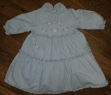 Robe Bleu Ciel Avec Fleurs JACADI 18 mois idéale pour l'Hiver