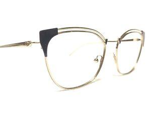 Prada VPR62U YC0-1O1 Women's Gold Modern Cats Eye Rx Eyeglasses Frames 53/17~140