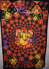Indian Lord Ganesha Wall Hanging Tapestries Bedspread Throw Ethnic Decor 10