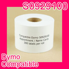 36 roll of Compatible Dymo S0929100 Name Badge/Appointment Card (non-adhesive)