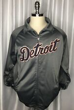 Majestic Detroit Tigers Grey Jacket Mens XL Baseball