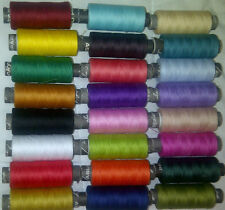 25 SEWING ALL PURPOSE 100% Pure COTTON THREAD 24 COL BUY 2 SETS & GET 1 Set FREE
